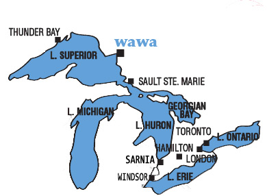 Wawa RV resort and Campground map